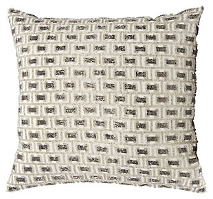 Modern Beaded Buckles Luminescence Pewter/Silver Pillow, , large