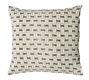 Modern Beaded Buckles Luminescence Pewter/Silver Pillow, , rollover