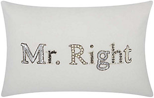 Modern Mr Right Luminescence White  6 in. Pillow, , rollover