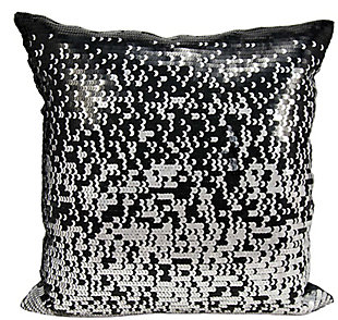 Modern Gradual Sequin Luminescence Black/Silver Pillow, , rollover
