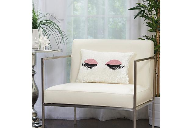 Modern Glitter Eye Shadow Luminescence Rose Pillow, , large