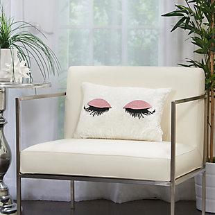 Modern Glitter Eye Shadow Luminescence Rose Pillow, , rollover