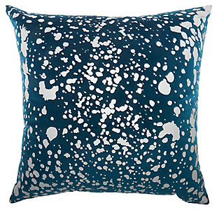 Modern Metallic Splash Luminescence Teal Pillow, , large