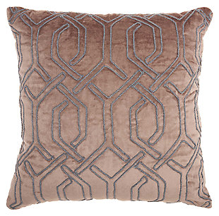 Modern Embroid Interlock Luminescence Nude Pillow, , large