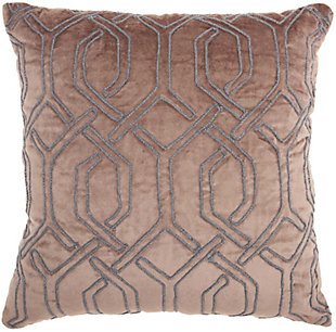 Modern Embroid Interlock Luminescence Nude Pillow, , rollover