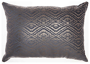 Modern Metallic Diamonds Luminescence Midnight Pillow, , large