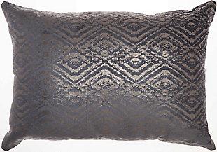 Modern Metallic Diamonds Luminescence Midnight Pillow, , rollover