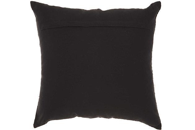 Modern Fan Design Luminescence Black Pillow, Black, large