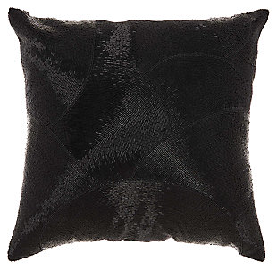 Modern Fan Design Luminescence Black Pillow, , large