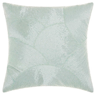 Modern Fan Design Luminescence Celadon Pillow, , large