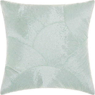 Modern Fan Design Luminescence Celadon Pillow, , rollover