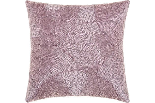 Modern Fan Design Luminescence Lavender Pillow, Pink, large