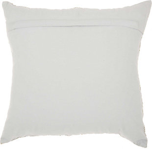 Modern Fan Design Luminescence Silver Pillow, White, large