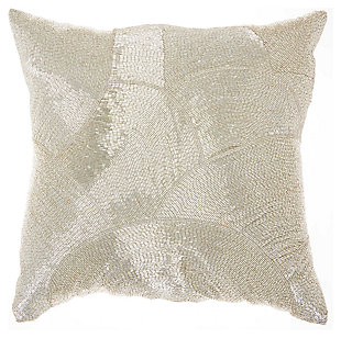Modern Fan Design Luminescence Silver Pillow, , large