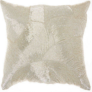 Modern Fan Design Luminescence Silver Pillow, , rollover