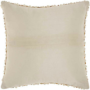 Modern Quilted Swarovski Luminescence Ivory Pillow, , large