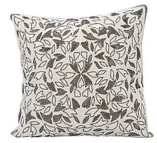 Modern Beaded Vines Luminescence Pewter Pillow, , rollover