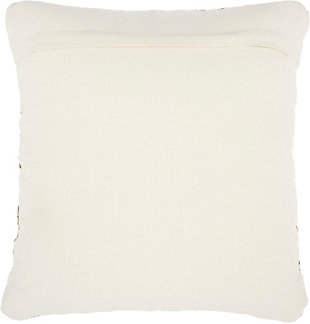 Modern Woven Leather Natural Leather Hide Sand Pillow, , large