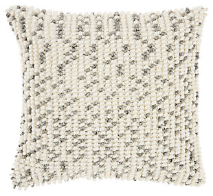 Modern Loop Dots Outdoor Pillows Grey Pillow, , large