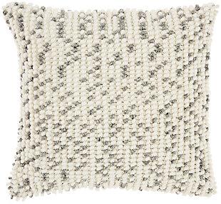 Modern Loop Dots Outdoor Pillows Grey Pillow, , rollover