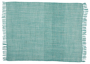 Modern Woven Outdoor Throw Outdoor Throws Aqua Throw, , large