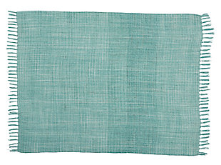 Modern Woven Outdoor Throw Outdoor Throws Aqua Throw, , rollover