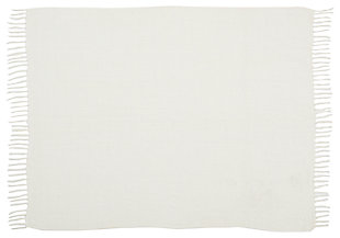 Modern Woven Outdoor Throw Outdoor Throws Ivory Throw, , large