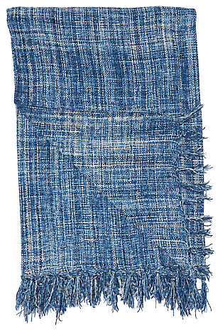 Modern Woven Outdoor Throw Outdoor Throws Navy Throw, , large
