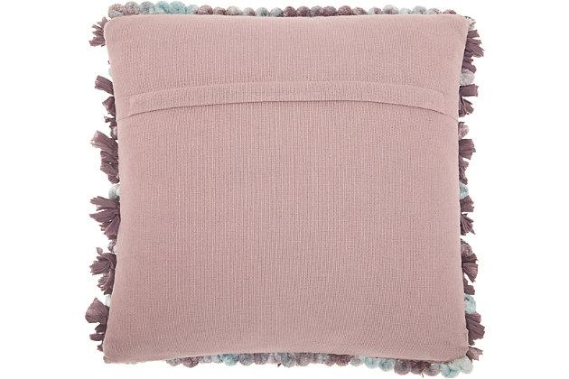 Modern Chindi Pom Pom Shag Multicolor Pillow, , large