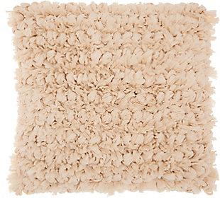 Modern Paper Loop Shag Beige Pillow, , rollover