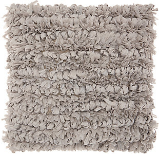 Modern Paper Loop Shag Grey Pillow, , rollover