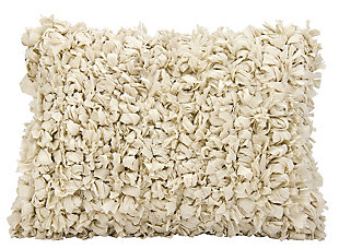 Modern Loop Shag Beige Pillow, , rollover