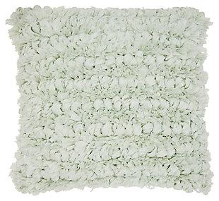 Modern Loop Shag Spa Pillow, Gray, large
