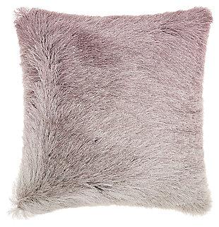 Modern Illusion Shag Lavender Pillow, , large