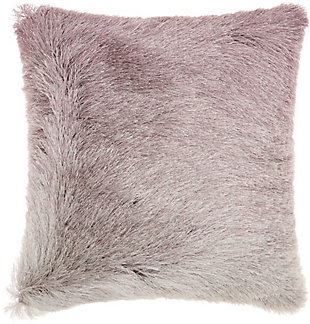 Modern Illusion Shag Lavender Pillow, , rollover