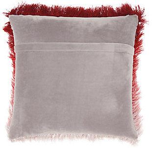 Modern Illusion Shag Rose Pillow, Pink, large