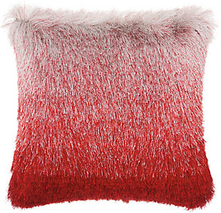 Modern Illusion Shag Rose Pillow, Pink, rollover