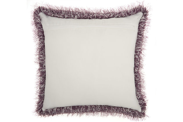 Modern Candy Lurex Shag Lavender Pillow, Purple, large