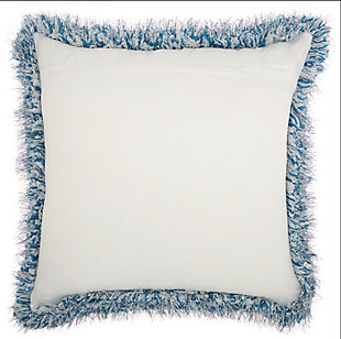 Modern Candy Lurex Shag Celadon Pillow, Blue, large