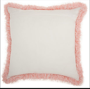 Modern Candy Lurex Shag Rose Pillow, Pink, large