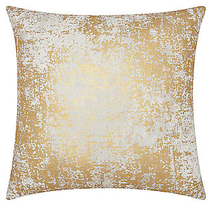 Modern Distressed Metallic Luminescence Gold Pillow, , large