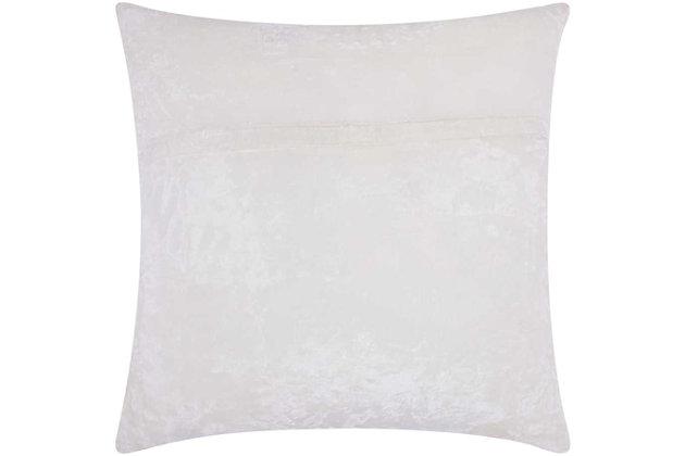 Modern Fully Beaded Love Luminescence Silver Gold Pillow, White/Gold, large