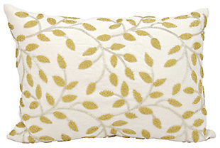Modern Beaded Vines Luminescence Silver Gold Pillow, , large