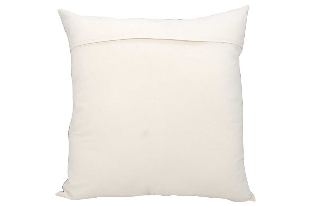 Modern Circles Luminescence Silver Pillow, White, large