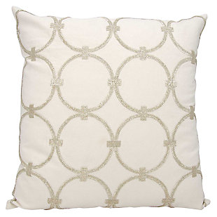 Modern Circles Luminescence Silver Pillow, , large