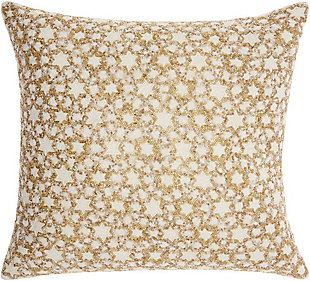 Modern Small Silver Stars Luminescence Silver Gold Pillow, , rollover