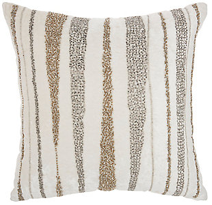 Modern Beaded Waves Luminescence Nude Pillow, Multi, rollover