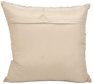 Modern Fully Beaded Luminescence Beige Pillow, Beige, large