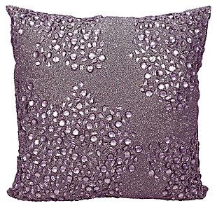 Modern Fully Beaded Luminescence Lavender Pillow, , large