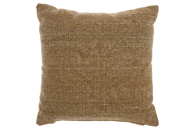 Modern Metallic Eclipse Life Styles Beige Pillow, , large